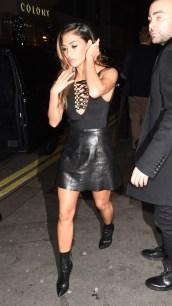 Nicole Scherzinger - Leather Mini Skirt
