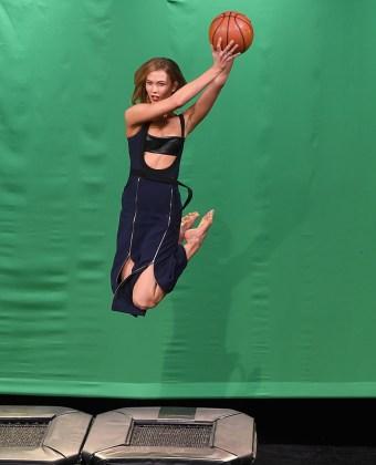 Karlie Kloss - Leather Bra