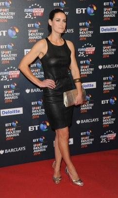 Kirsty Gallacher . Leather Mini Dress