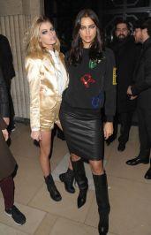 Irina Shayk - Leather Mini Skirt & Boots