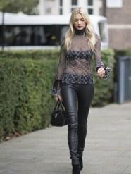 Jessica Hart - Leather Pants