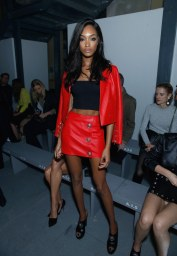 Jourdan Dunn - Leather Jacket & Mini Skirt
