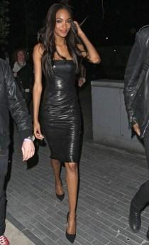 Jourdan Dunn - Leather Midi Dress