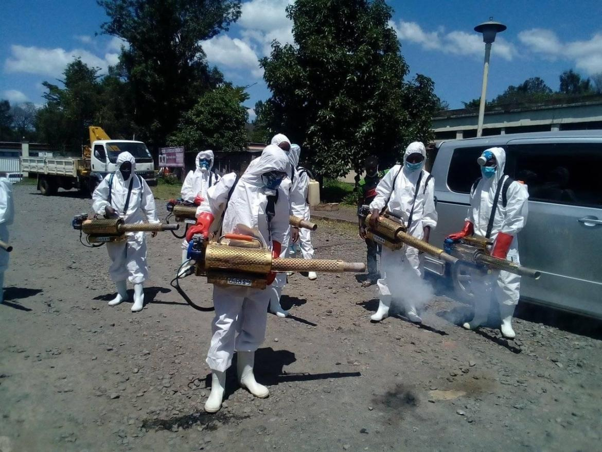SK Murage launches fumigation exercise to complement government's effort in fight against COVID-19