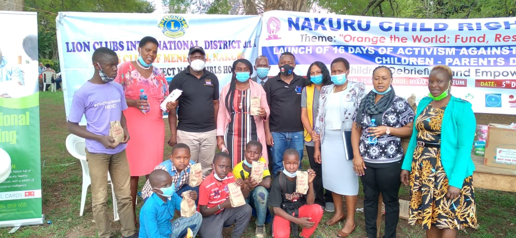 300 children benefit from Lions Club of Menengai's Dignity packs