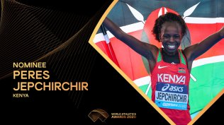 Peres Jepchirchir is a nominee for the World Athletics Awards 2020