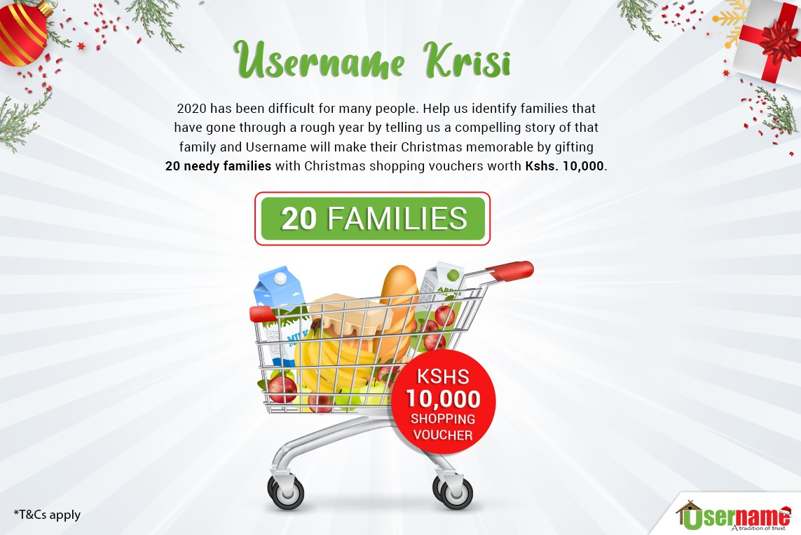 Username Investments set to gift 20 families with Christmas Shopping Vouchers
