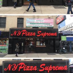 A white slice I don't hate, at NY Pizza Suprema