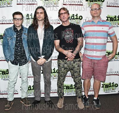 FamousPix: 07/05/2016 - Weezer Visit Radio 1045 &emdash; Weezer