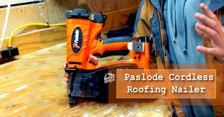 Paslode cordless roofing nailer for roof repair