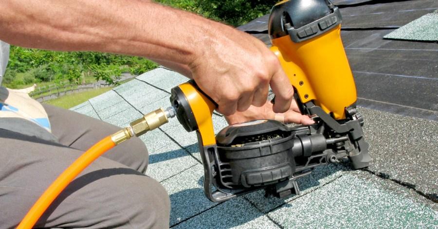 Make roofing by nail gun