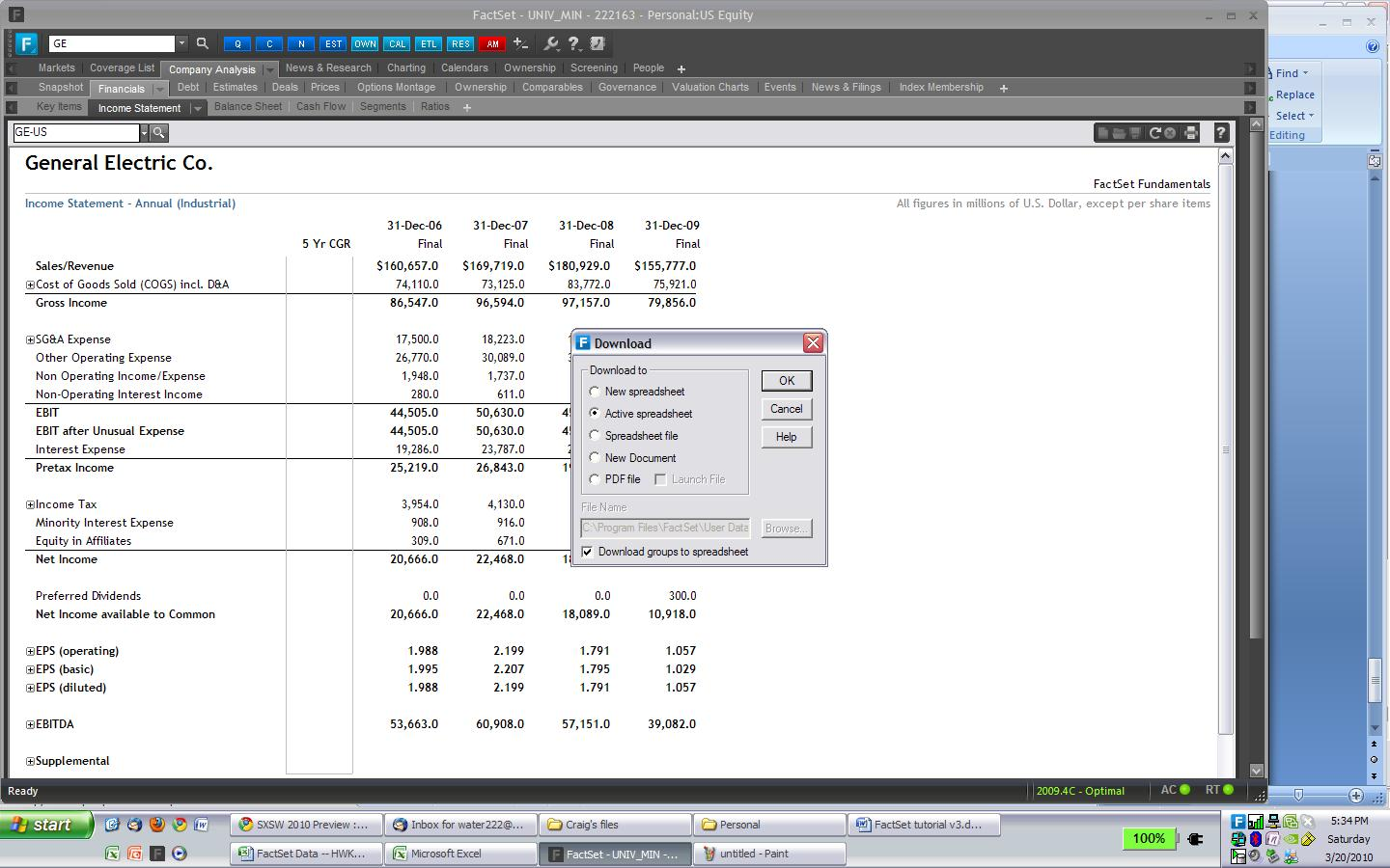 Famous Financial Modeling Wiki Company Research Importing Financials Into Excel