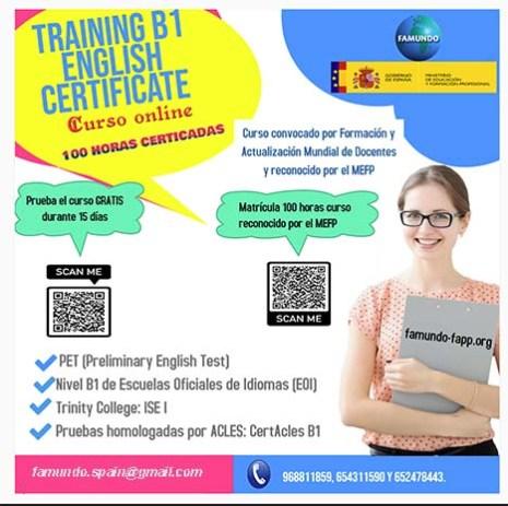 Training B1 English Certificate