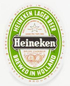 The Heineken label in 1966