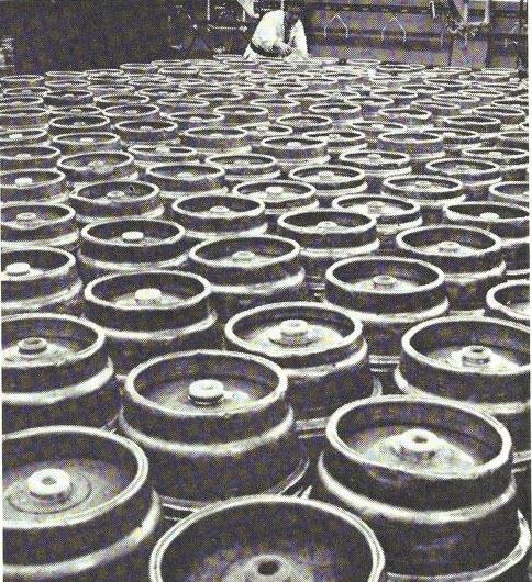 Wooden Barrels replaced by steel barrels in the Den Bosch Brewery