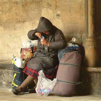 Are people to blame for being poor and homeless?