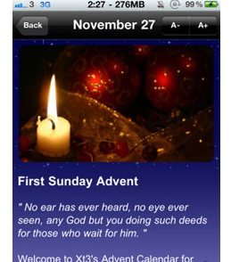 Mobile app for Advent calendar