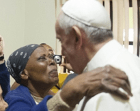 Pope makes alms personal