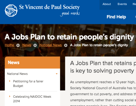 A Jobs Plan to retain people's dignity