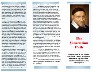 Vincentian Path pamphlet