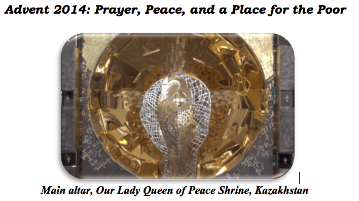 Prayer, Peace, a place for the Poor – Advent letter