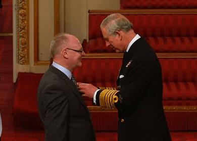 Mark McGreevy, Depaul International's CEO honored by Prince Charles.
