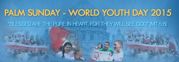 Palm Sunday and World Youth Day live around the world