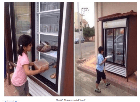 Free food in public refrigerator – Pro? and Con?