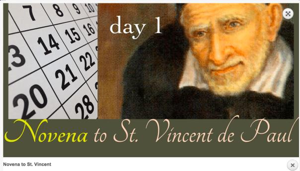 Nine day novena to St. Vincent