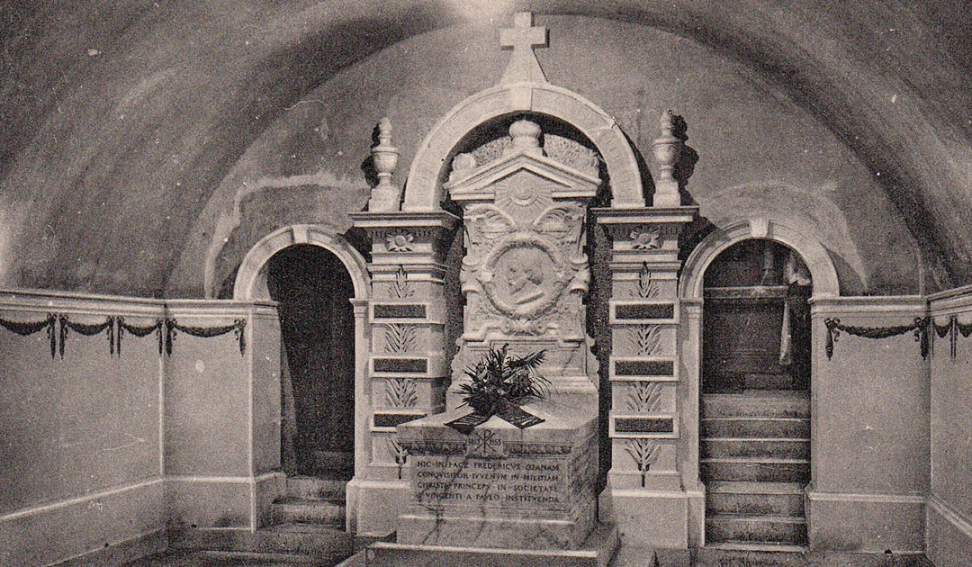 The tomb of Blessed Frederic Ozanam, now and then