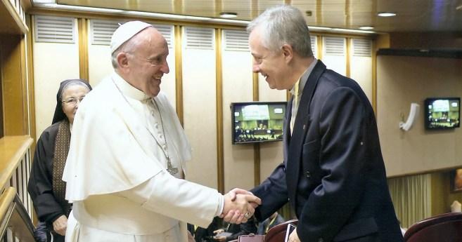 Meeting of Tomaž Mavrič with the Pope