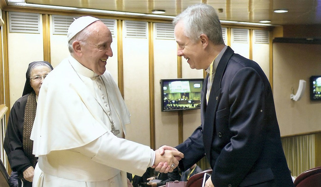 Meeting of Tomaž Mavrič with the Pope