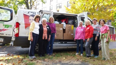 Albany NY USA Ladies Of Charity (AIC) coat drive 2016