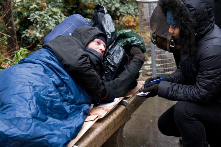 Depaul UK helping the homeless in London, England 2017