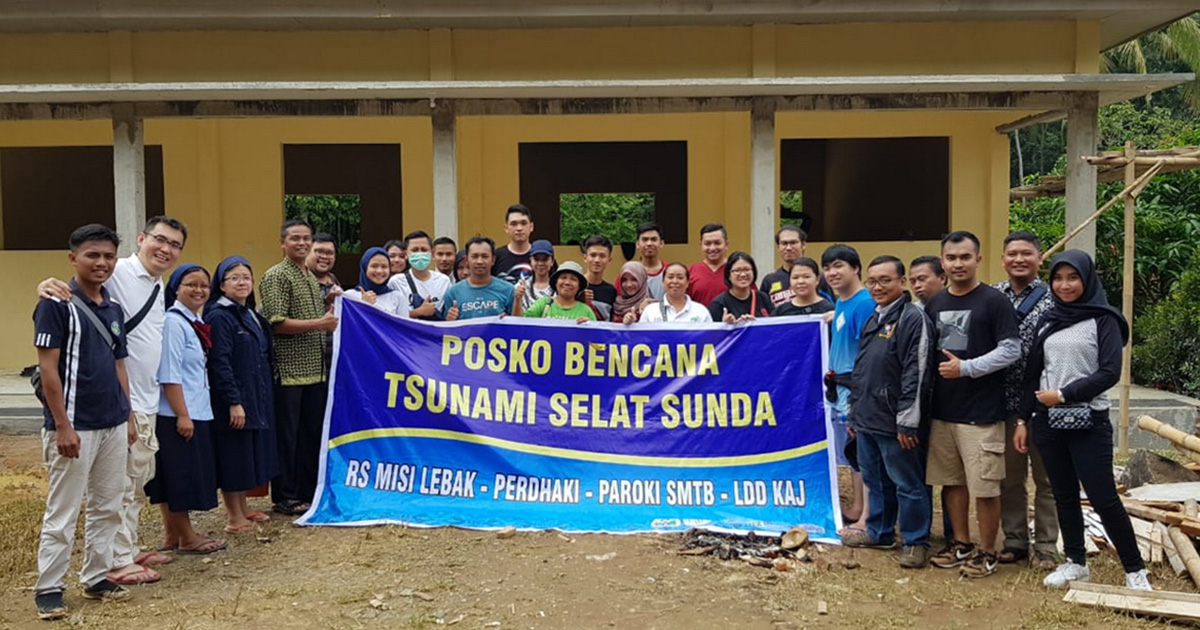 Vincentian Family Indonesia Assisting Recent Tsunami Victims