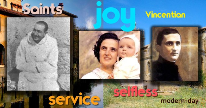 Three Saints who were members of the Society of St. Vincent de Paul