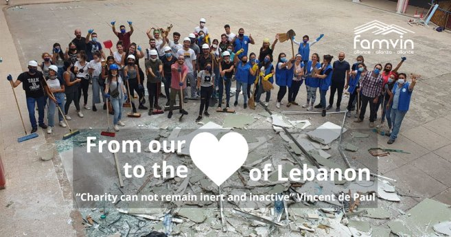 The Vincentian Family Launches an Appeal to Reach the #HeartofLebanon