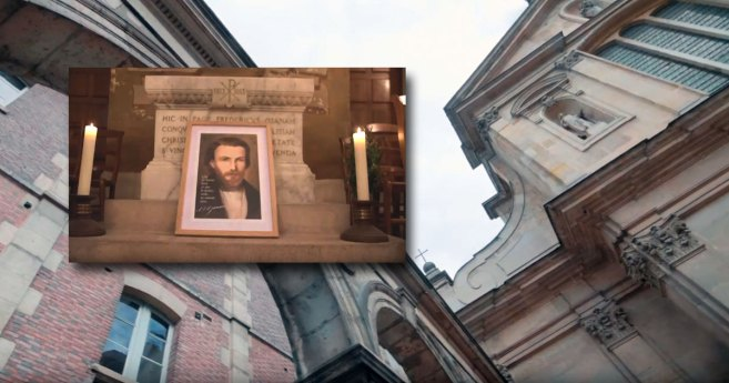 Visit to the Tomb of Frederic Ozanam (video)