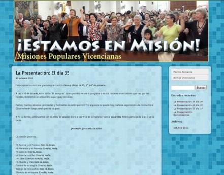 Los Misioneros Paúles de la Provincia de Zaragoza estrenan Web de Misiones Populares