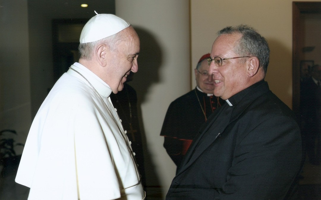Superior General concelebra con Papa Francisco
