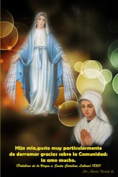 """Power Point """"María, camino de luz"""", en la fiesta de la Virgen Milagrosa"""
