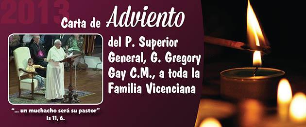 Carta de Adviento 2013 a la Familia Vicenciana, del P. General