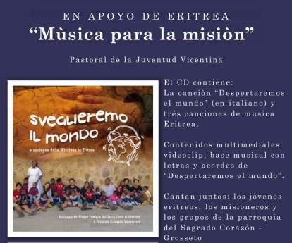 """""""Música para la misión"""" En apoyo a la misión de Eritrea"""