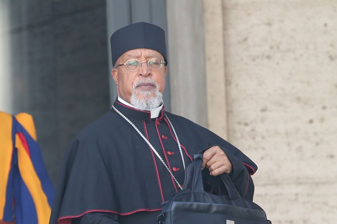 El Cardenal Berhaneyesus Souraphiel de Addis Abeba durante el Sínodo del Vaticano, 13 de octubre de 2014. Créditos: Bohumil Petrik / CNA.