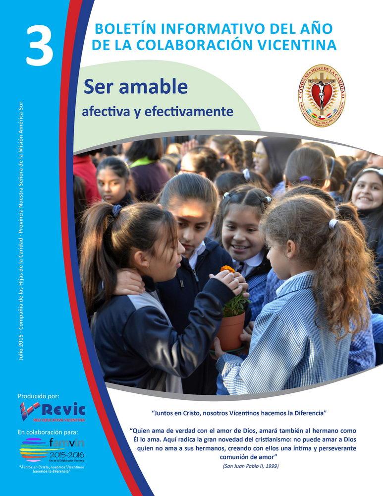 Boletín informativo REVIC nº 3 sobre el año de la colaboración vicentina