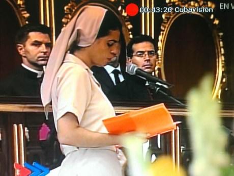 Testimonio de Sor Yaileny Ponce Torres, Hija de la Caridad, ante el Papa Francisco en celebración de las Vísperas con sacerdotes, religiosos, religiosas y seminaristas