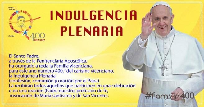 El Papa Francisco concede Indulgencia Plenaria a la Familia Vicenciana #famvin400