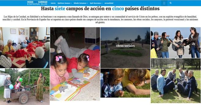 Las Hijas de la Caridad de la provincia de España-Sur presentan su nueva página web