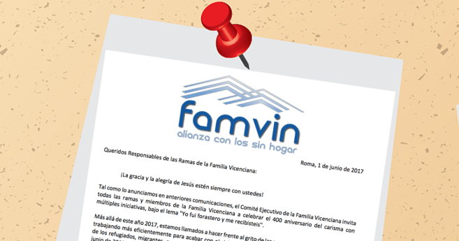 Boletín: La Alianza FamVin con los sin hogar
