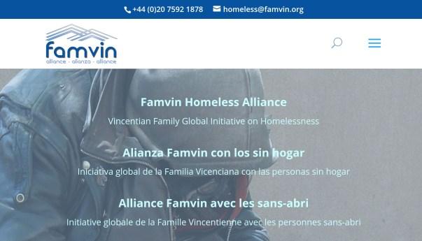 La Alianza Famvin con los sin hogar inaugura su presencia en Internet